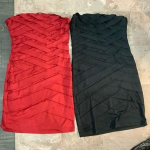Black and red strapless dress. 2 for 1 deal. Size